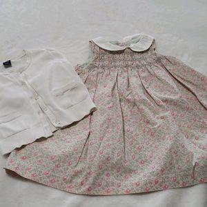 Gap Dress with Cardigan